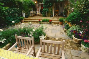 Decking and Paving in Town Garden