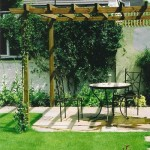 Wooden Pergola With Paving
